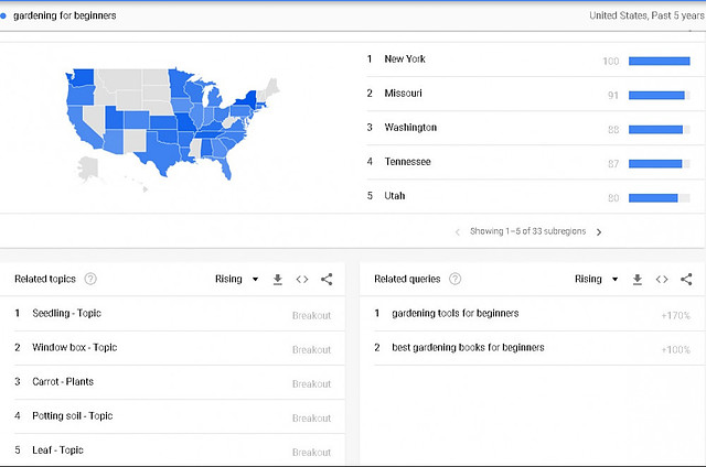 Google trends and how to narrow down a niche