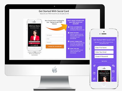 Lead Conversion Squared review business card sign-up