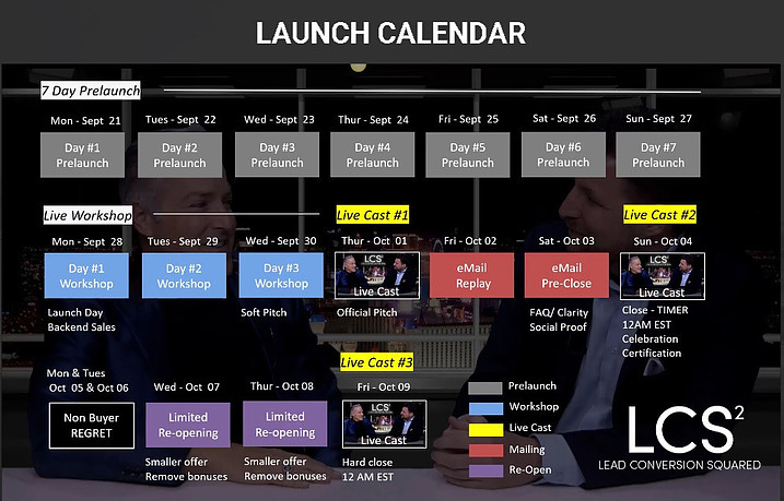 Lead Conversion Squared review launch dates