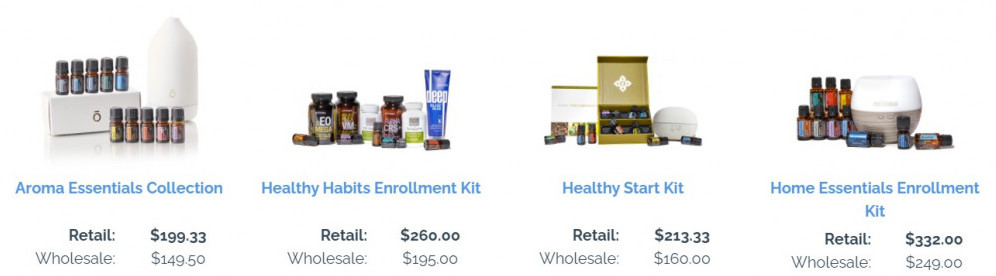 doTERRA essential oil enrollment kits