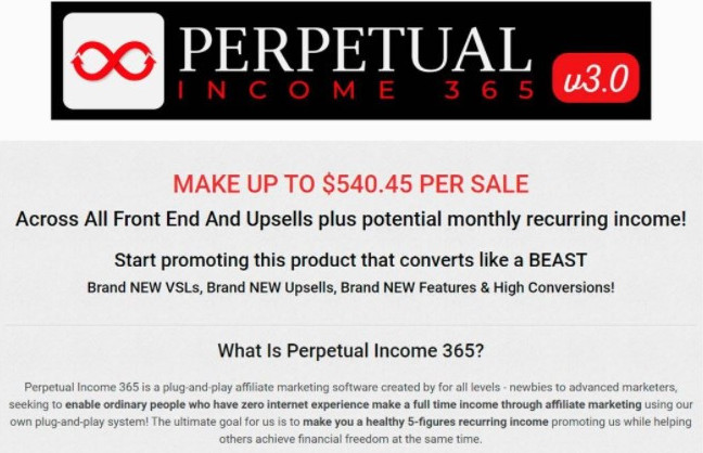 Perpetual Income 365 affiliate program
