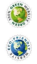 best eco friendly websites can display a green tage from Green Geek hosting
