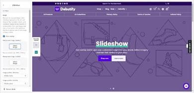 Debutify customizable slideshow