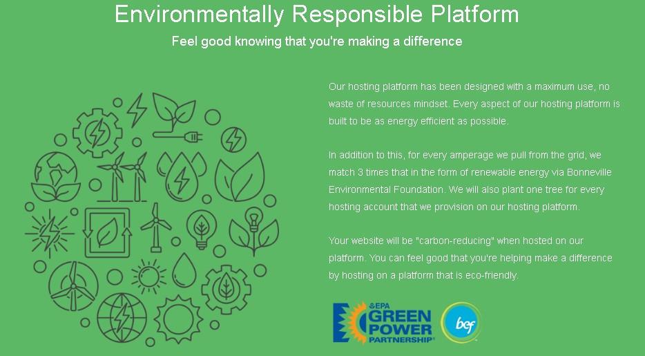Environmentally responsible platform of green geeks web hosting reviews