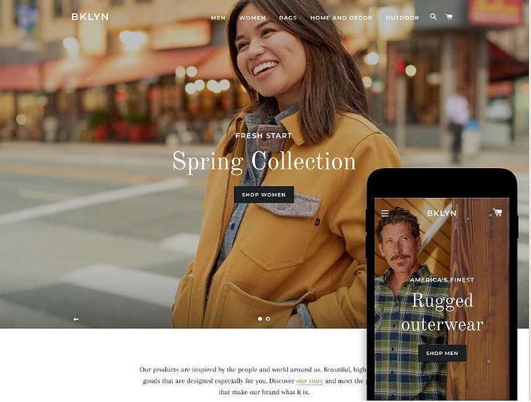 Free Shopify theme Brooklyn