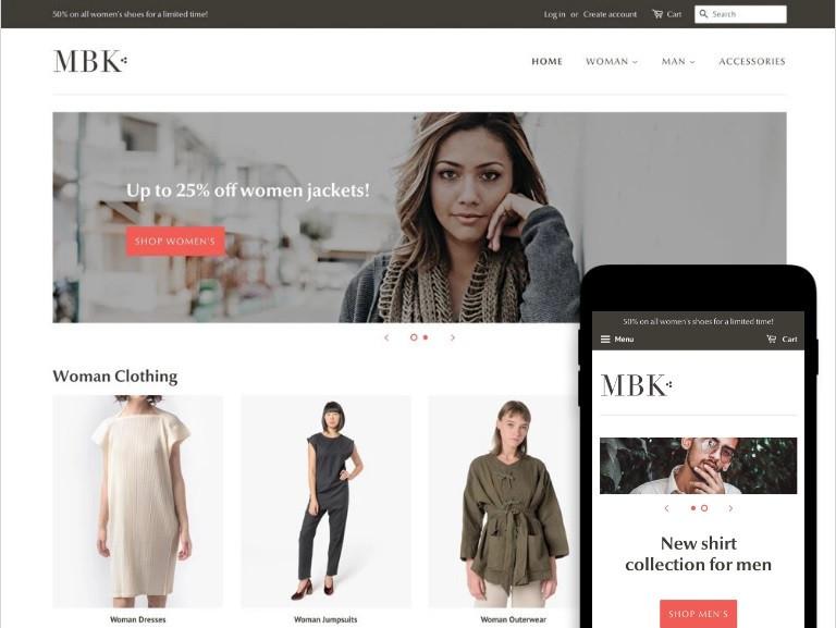 Free Shopify theme Minimal