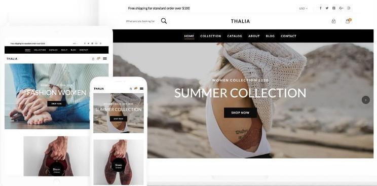 Free Shopify theme Thalia