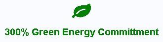 Green Geek hosting has a 300% green energy commitment