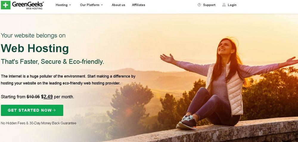 Green Geeks eco-minded web hosting provider