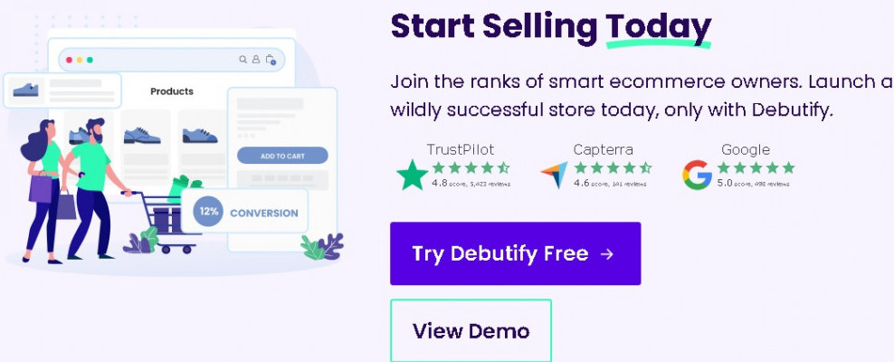 Set up you eCommerce store with Debutify