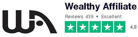 Customer erviews on Trustpilot give Wealthy Affiliate 4.8 out of 5